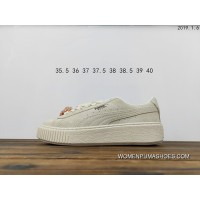 Qyp Puma Rihanna 2.0 Gulina Mr Crystal Decoration Women Beige White Flatform Sneakers Suede Platform Gem Wns 367452-03 Process High Probability Test Good Top Deals