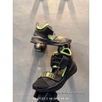 Puma 1801 Sandals-Black Green-36-40 Online