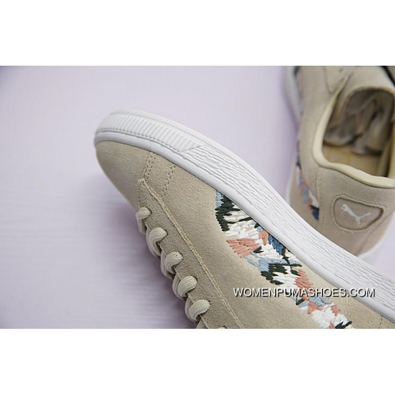 finest selection a40e1 141e0 FULL GRAIN LEATHER LINING Women Shoes Puma Suede Sunfade Stitch All-being  Classic Match Women Sneakers God Needle Embroidery Cloth Color 365473-01 ...