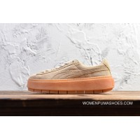 Latest Authentic Puma SUEDE PLATFORM High Thick Bottom Loose Cake Shoes Increased 367259-02 Women Shoes