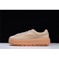 HyxPUMA Suede Platform Trace Participants In The Pantheon Wheat Platform Sneakers In 367259-02 Super Deals