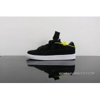 Super Deals Puma Suede Bow Heart A Heart Of Valentine Valentines Day Ribbon Sneakers In 365135-02 Women Shoes All Black