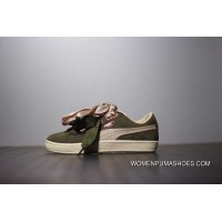 Fewer Women Series Women Shoes Puma Suede Heart Bow Sneakers Series He Green Pink Silk Size Top Deals