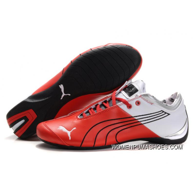 29a7928175fd Puma Ferrari Future Cat M1 Shoes Red White Black Copuon