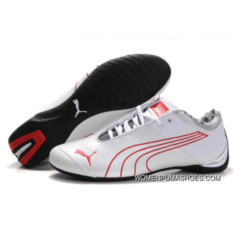 b88af4e530f5 Puma Ferrari Future Cat M1 Shoes White Red Discount