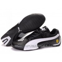 Womens Puma Future Cat Low Black White Shoes Online SGGzG