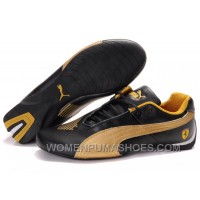 Womens Puma Future Cat Low Shoes Black Golden Discount 4smm3