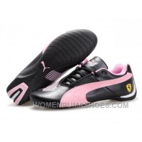 Womens Puma Future Cat Low Shoes Black Pink Cheap To Buy 8BpK7