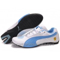 Womens Puma Future Cat Low White Blue Shoes For Sale YQAfy