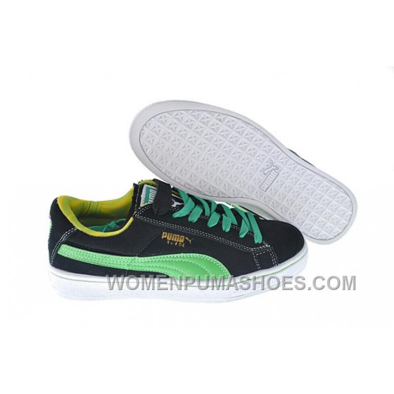 best cheap a2bd0 20b72 Women's Puma Suede Black-Green Authentic XmJat