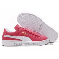 Women's Puma Suede Pink-White Free Shipping 8a5Xr
