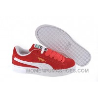 Women's Puma Suede Red-White Cheap To Buy EJR8T