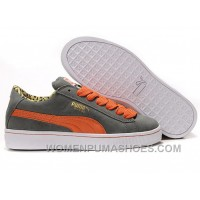 Women's Puma Suede Gray-orange Cheap To Buy Jy5PS