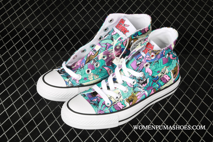 WomenMen Converse Tom And Jerry Chuck Taylor All Star High Top WhiteMultiBlack Copuon