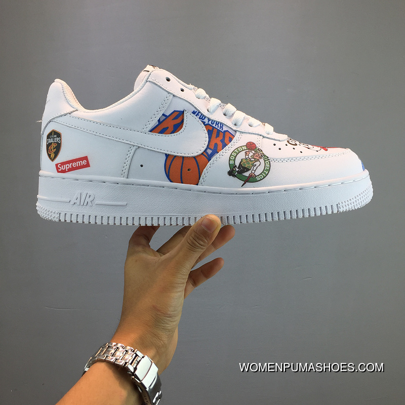 Nike Air Force Supreme NBA AF1 Limited Collaboration Black White Sneakers  AQ8017-100 Best