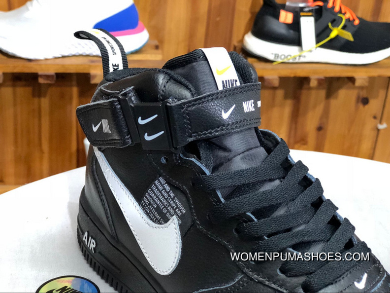 Nike Air Force One Af1 Deconstruction Simplified Ow Black White High 1 No Sneakers Aj7747 001 Couple New Year Deals