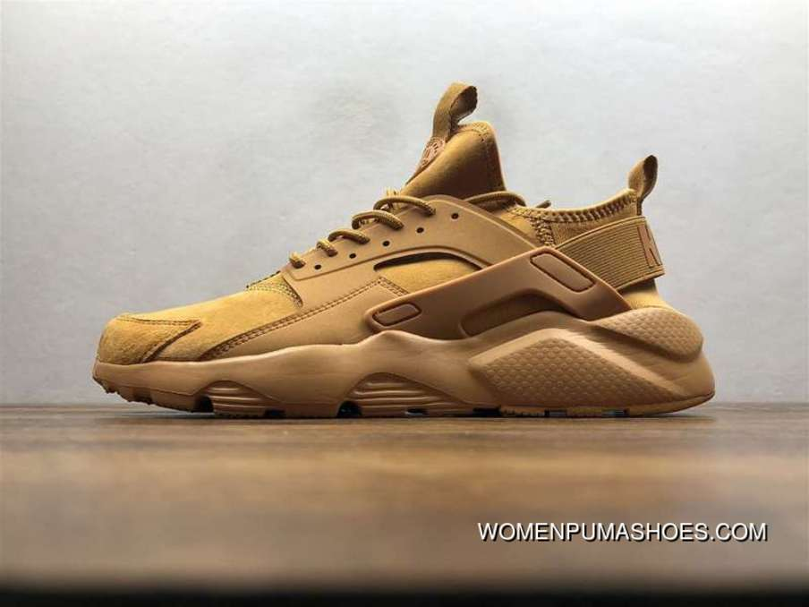 Nike Air Huarache Pig Leather Material Running Shoes Wheat Color 829669-335 Super Deals