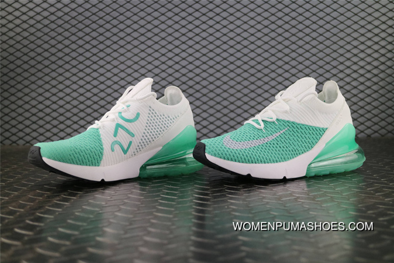 fast delivery sale uk no sale tax Nike Air Max 270 FLYKNIT / AH8050 013 White Green New Style, Price ...