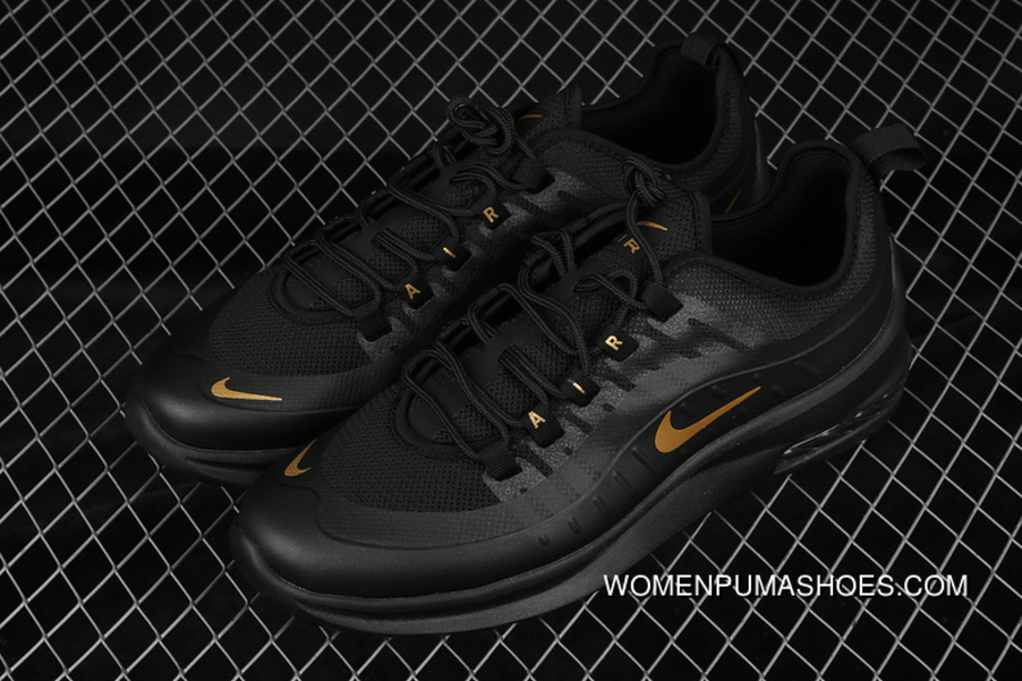 Nike Air Max Axis AA2168 007 All Black Metallic Gold Outlet