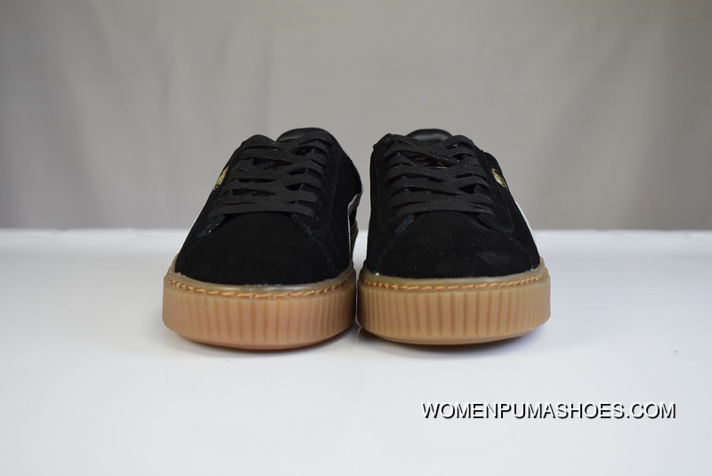new products ae48b 6f073 New Style 180 Stalls Welcome Advice Black White Brown Puma Suede Platform  Rihanna Ox-tendon Sole Flatform Shoes 363559-02