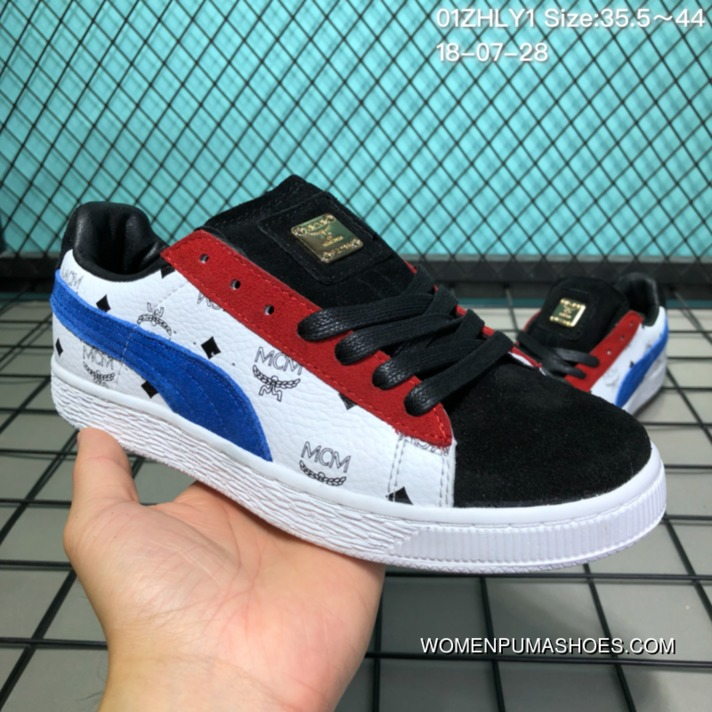 Super Deals The 50th Anniversary Of The 110 Puma Suede X MCM Collaboration Publishing FULL GRAIN LEATHER Graffiti Low Sneakers 01 Zhly1 Size 35.5 44