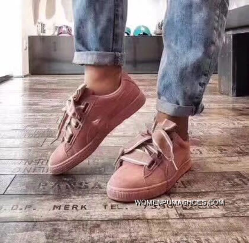 competitive price 23ab1 61f5e Puma Suede Heart Satin II 364084-03 Pink Cheap To Buy