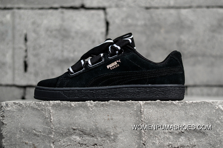 Top Deals Authentic PUMA Shoes Suede Heart Satin II Bow
