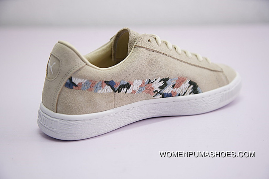 finest selection 8beee 81887 FULL GRAIN LEATHER LINING Women Shoes Puma Suede Sunfade Stitch All-being  Classic Match Women Sneakers God Needle Embroidery Cloth Color 365473-01 ...