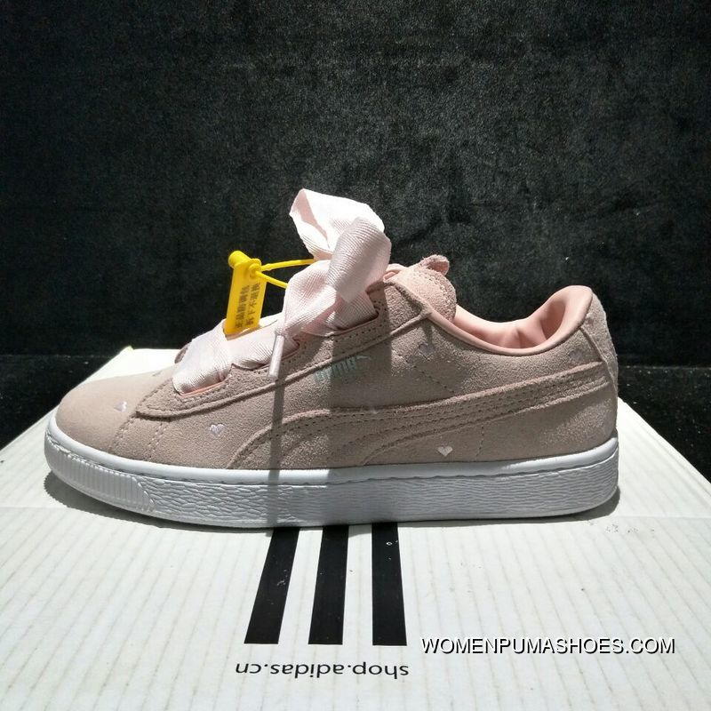 outlet store 34d9f 01bb5 Valentines Day Limited 365135-03 Style Puma 1 Bow Love Heart Valentines Day  SUEDE Heart Valentine Women Shoes New Year Deals